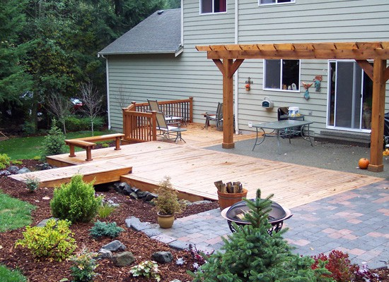 Decks and patios make great outdoor living spaces!