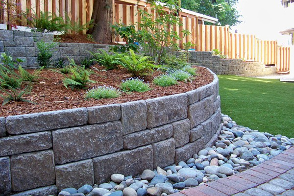Allan Block walls provide support and look good, too!