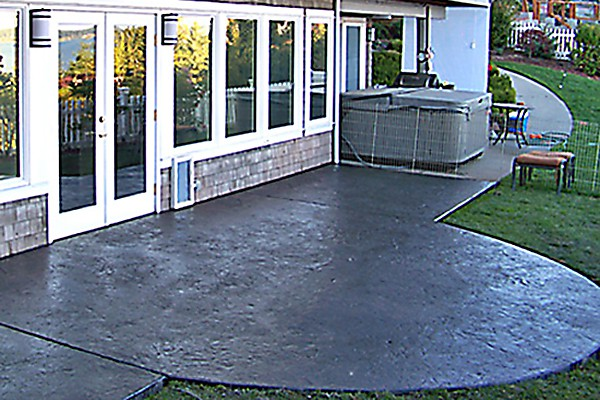 Concrete patios look amazing, and are very durable!