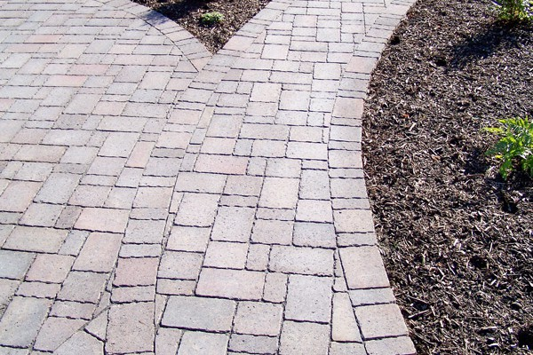 Paver walkways look great and can withstand any weather.