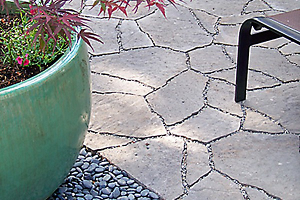 Permeable pavers allow water to disperse quickly.