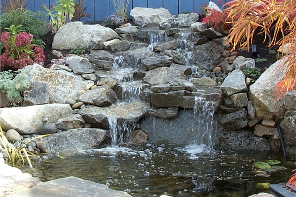 Water features are a welcome addition to any patio.