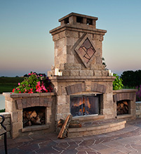 Bristol outdoor fireplace