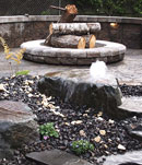 firepit with water feature