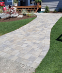 Permeable paver walkway