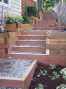 pressure treated timber wall