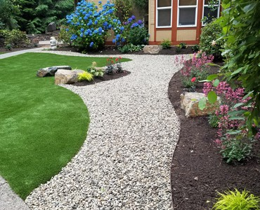 Hedahl sustainable organic landscape services silverdale for Landscaping rocks kitsap county